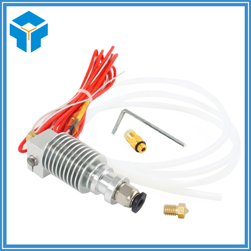 3D V6 Long distance J head Hotend for 1.75mm/3mm 3D Bowden Extruder 0.2/0.3/0.4/0.5mm Nozzle for RepRap 3D Printer soaringe 3d printer assembled all metal long distance j head for bowden extruder 0 4mm x 3mm
