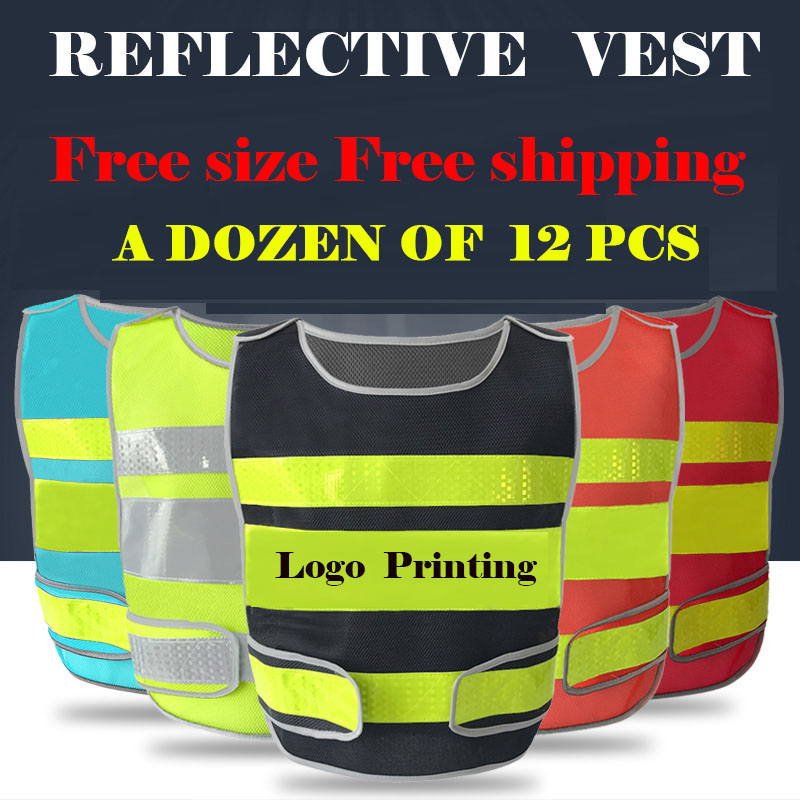 A Dozen Customizable reflective crystal lattice Construction traffic safety mesh vest with free logo printing free shipping bosch phd 3300 фен для волос blue