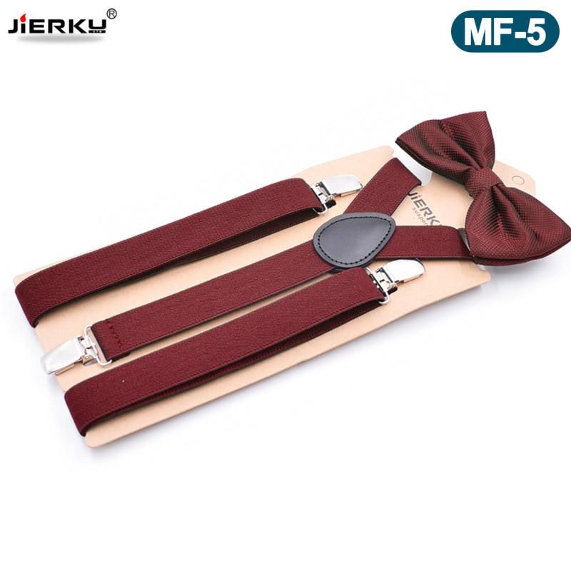 JIERKU Suspenders with Bowknot Womans Braces Leather 3Clips Suspensorio Fashion Trousers Strap 2.5*105cm JK3C05