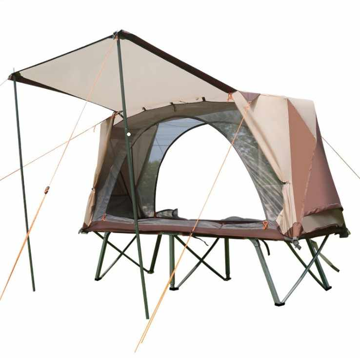 Off Tanah Outdoor Tenda Camping Tenda Lipat Tenda Tempat Tidur Single Kelembaban Bukti Yg Tahan Hujan Memancing Tenda Camp Bed Double Layer
