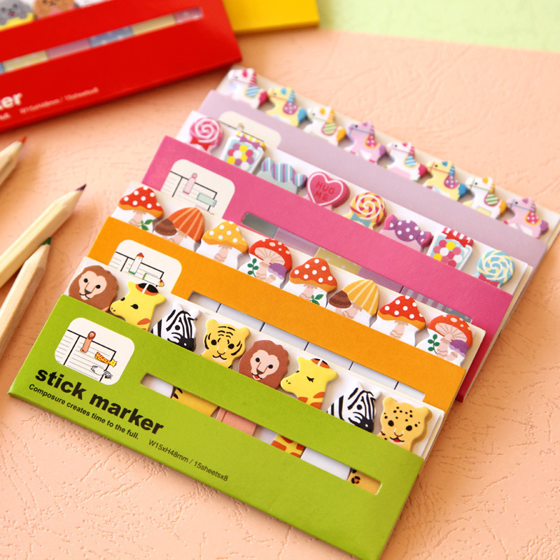 10 pcs/Lot Cartoon sticky note Post it stick & memo paper stickers bookmark stationery papelaria office School supplies