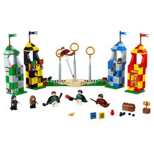 NEW 536pcs Harry Potter Movie Magic Quidditch Match Model Compatible with Legoings Figures Brick Toys for Children