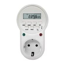 Smart Power Socket Digital Timer Switch Energy Saving Adjustable Programmable Setting of Clock/ On/ Off Time EU /US/ UK Plug