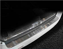 Наружная + внутренняя защита заднего бампера Накладка на порог