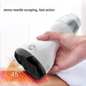 Image 2 - Aufgeladen stein nadel heizung schaben massager Elektrische Warm Moxibustion gerät Detox Chinesische Körperliche gesundheit pflege haushalt
