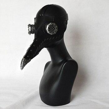 Dr. Beulenpest Steam punk Plague Doctor Mask Beak Masks PU Birds Halloween Art cosplay Costume Black / White