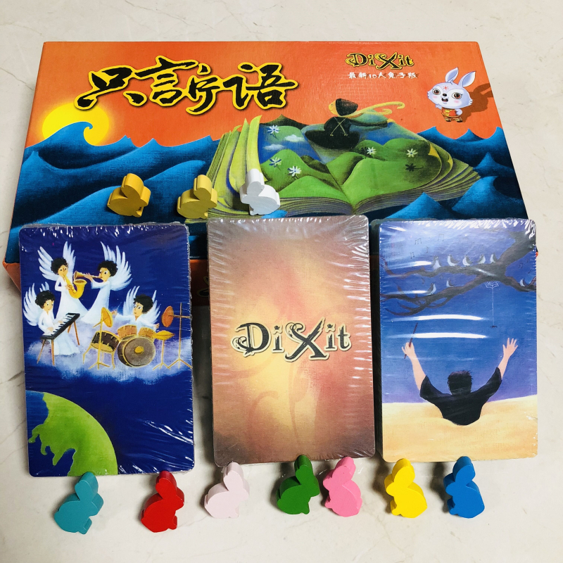 Dixit Card Games Wood Rabit Toys for Children Adult 164pcs Family Table Poker Party Juegos De Mesa Cartas Desk Boys Board Game