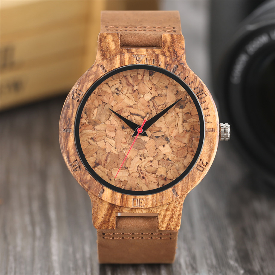 Nature Wooden Watch Handmade Beer Cork Dial Unisex Novel Deco Quartz Wristwatch Cool Clock Gift for Wine Fans relogio masculino (26)