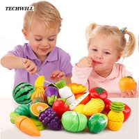 Simulation Foods Set 29pcs Fruit Vegetable Kids Kitchen Pretend Play Toys For Children Cutting Cooking Food
