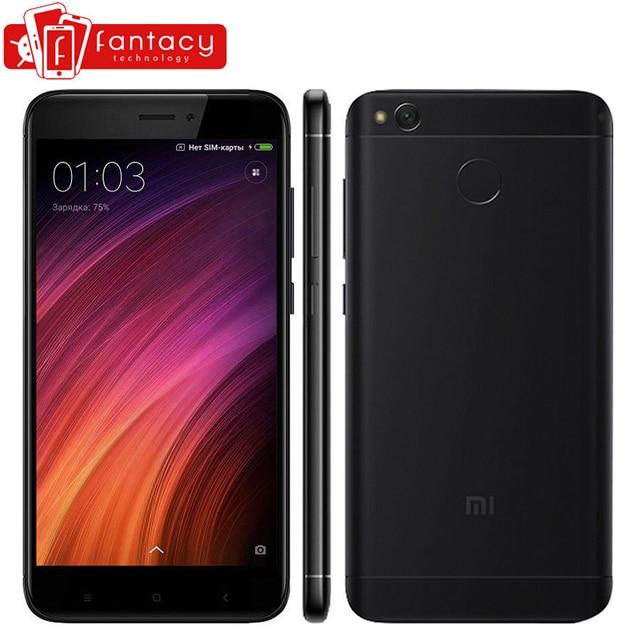 """Оригинал Xiaomi Redmi 4X 2 ГБ 16 ГБ 4100 мАч Snapdragon 435 Octa Core Отпечатков Пальцев ID FDD LTE 5 """"720 P MIUI 8.2 Мобильный Телефон"""