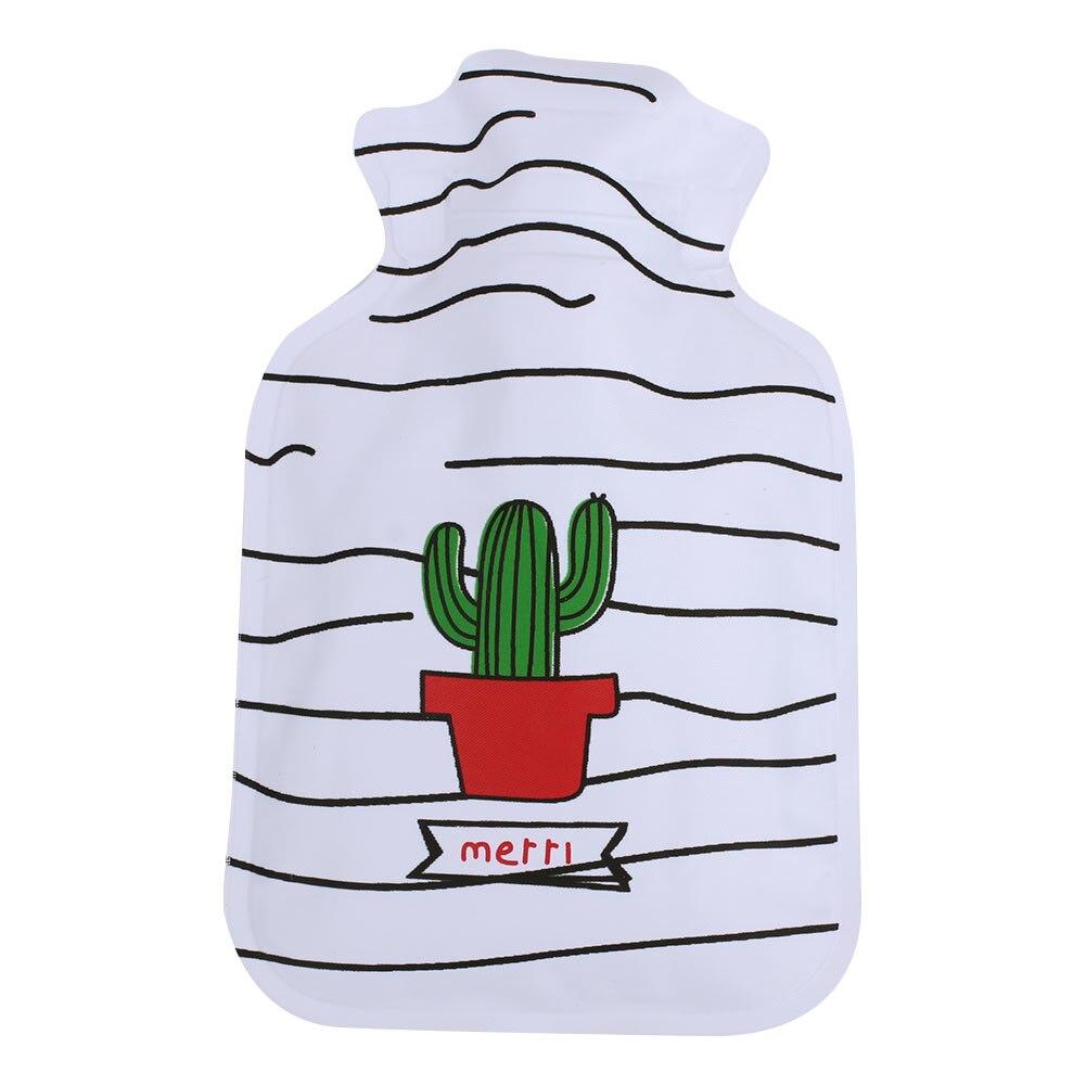 Грелка для рук теплая водонепроницаемая сумка для горячей воды горячий Подарочный пакет Прочный ПВХ+ EVA прочный - Цвет: Cactus