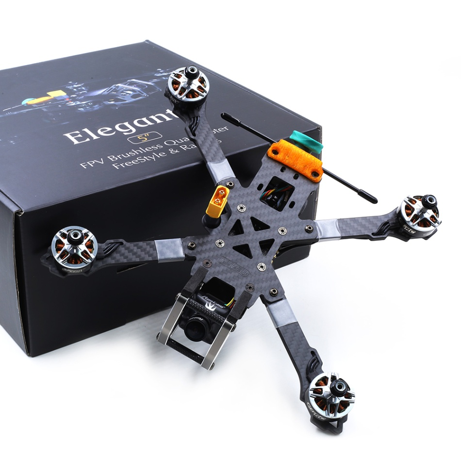 GEPRC KHX5 Elegant 230 มม.GR2306 2450KV 5.8G 48CH SPAN F4 Tower AIO RC Freestyle FPV Racing Drone PNP /Frsky R XSR BNF PNP-ใน เฮลิคอปเตอร์ RC จาก ของเล่นและงานอดิเรก บน   2