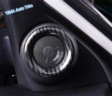 Lapetus стайлинга автомобилей Внутреннее окно столб спереди динамик аудио звук кольцо крышки отделка 2 шт. для Honda Civic 2016 2018 2017 седан