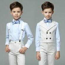 Г. летние костюмы для мальчиков торжественный детский Свадебный костюм Блейзер брендовый цветочный смокинги для мальчиков Детская школьная форма для мальчиков, костюм