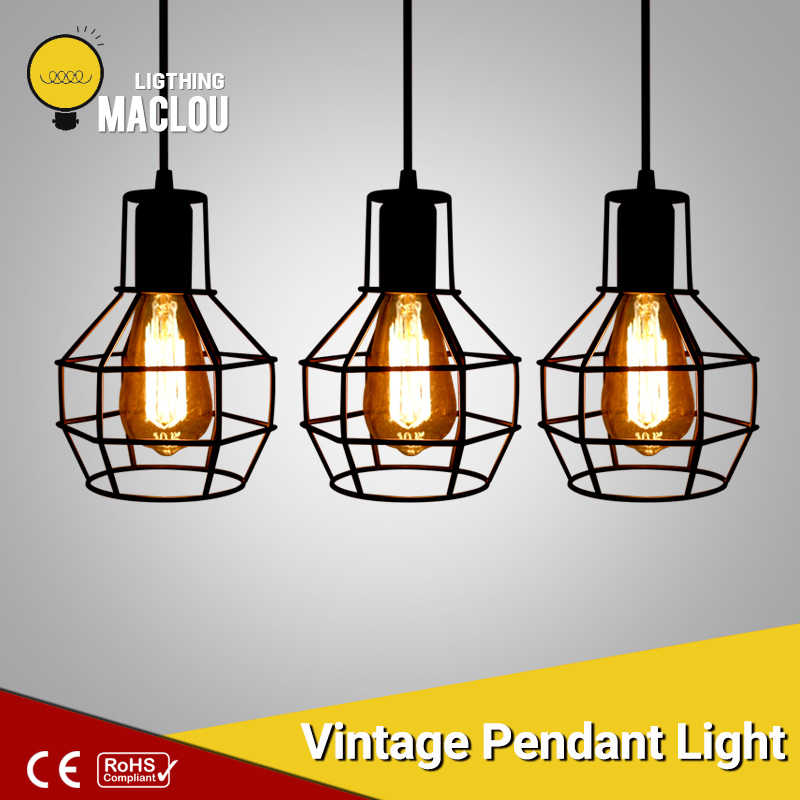 Pendant Light Vintage Nordic Industrial Lamp Hanging Light Fixture Lampshade Dinning Room Restaurant Loft Decor Indoor Lighting