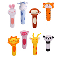 1 Piece Baby Rattle Toys Animal BB Stick Soft Hand Bell Musical Toy Hand Grip Rod for Newborn Kids