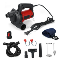 Portable Air Vacuum Electric Air Blower with Suction Pipe and Dust Bag Vacuum Cleaner Small Dry Vac for Computer Home Cleaner