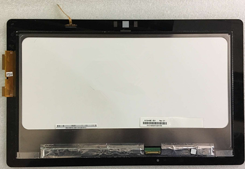 For ASUS Transformer Book TX300 TX300CA LCD Display Panel Touch Screen Digitizer Assembly With Frame Replacement N133HSE-E21 11 6 lcd display monitor touch panel screen digitizer glass assembly with frame for asus transformer book t200 t200ta