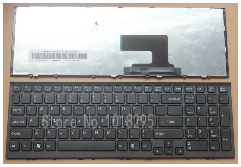 New US Laptop Keyboard for SONY Vaio PCG-71913L PCG-71811M PCG-71811W VPC-EH VPC EH VPCEH3J1R/B with frame for sony vpceh35yc b vpceh35yc p vpceh35yc w laptop keyboard