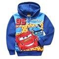 Cartoon Kids Cars boys clothes Cute Children vetement enfant Blue Hooded Sweatshirt+Letters Pants Sets Children Costumes KT368B