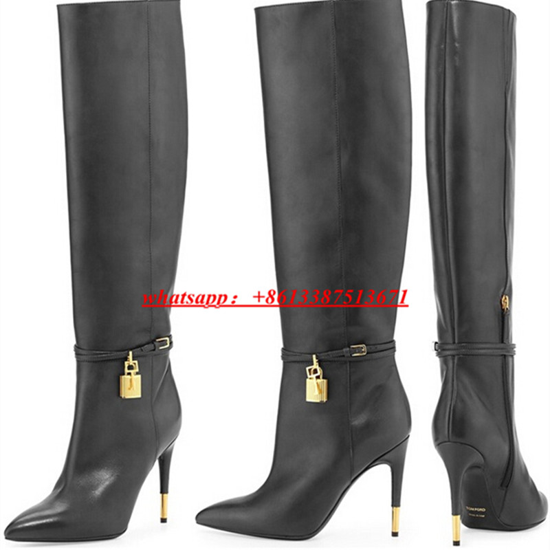 D Henlu 2018 Winter Boots Women Leather Autumn Boots Womens Shoes Bota Over  The Knee Long Boots ... 8a36e209ad72