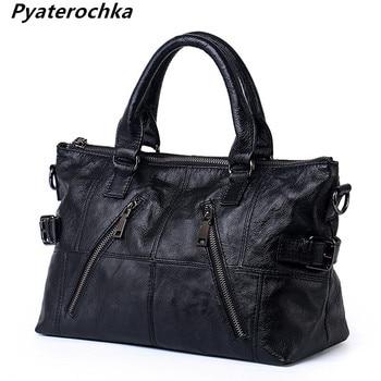 Pyaterochka Brand Handbag Women Genuine Leather Shoulder Bag Ladies Handbags High Quality Lady Party Bags Female Fashion 2019