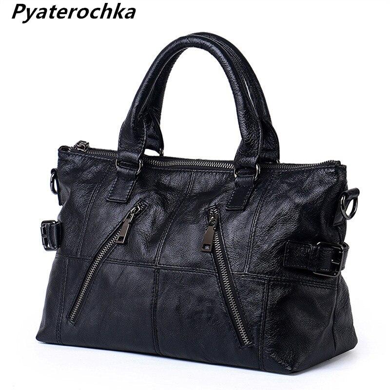 Pyaterochka กระเป๋าถือผู้หญิงกระเป๋าสุภาพสตรี ladies กระเป๋าถือคุณภาพสูงเลดี้หญิงแฟชั่น 2018-ใน กระเป๋าสะพายไหล่ จาก สัมภาระและกระเป๋า บน   1