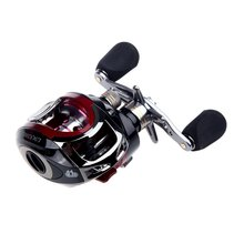 LMA200 10+1BB Ball Bearings Bait Casting Fishing Reel High Speed 6.3:1 Red Left