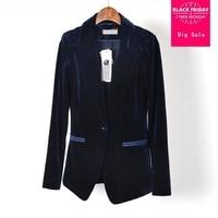 Single breatsed velvet Europe station new corduroy velvet blazer 2019 female great quality coat slim BLAZER w1579