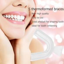 5pcs Thermoforming Dental Moldable Mouthguard Teeth Whitening Trays Bleaching Tooth Whitener Mouth Guard Care Tool