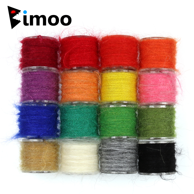 Bimoo 1 Spool Nymph Scud Fly Tying Dubbing Line Dub for Fishing Fly Body Material Pink Grey Olive Orange Etc. fly e135 grey tv
