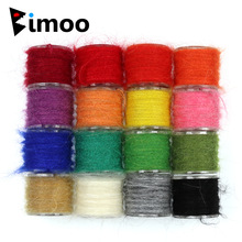 Bimoo 1 Spool Nymph Scud Fly Tying Dubbing Line Dub for Fishing Fly Body Material Pink Grey Olive Orange Etc.