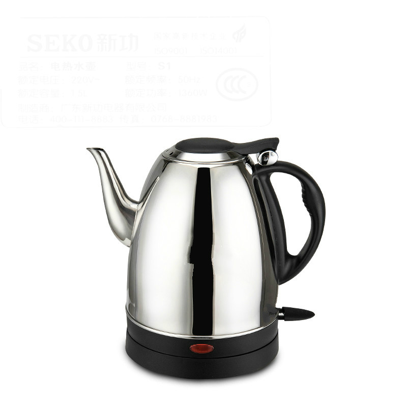 electric kettle used automatic power dry burn 304 stainless steel long mouth Anti-dry Protection seintex 82449 для toyota land cruiser prado 120 black