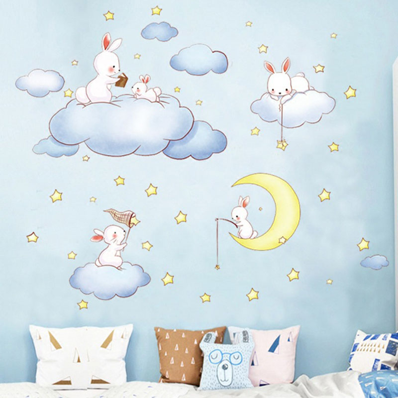 Картинка для спальни мишка спящий на стене