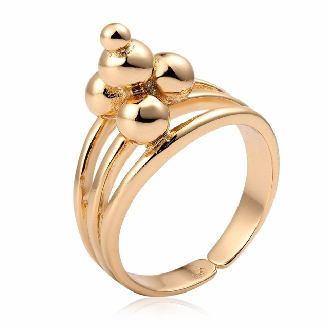 Five Round Ball Pile Up Pagoda Ring For Women Men 20mm Adjustable