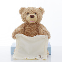 Peek A Boo Teddy Bear Plush Animal Toy Play Hide And Seek Stuffed Toy Music