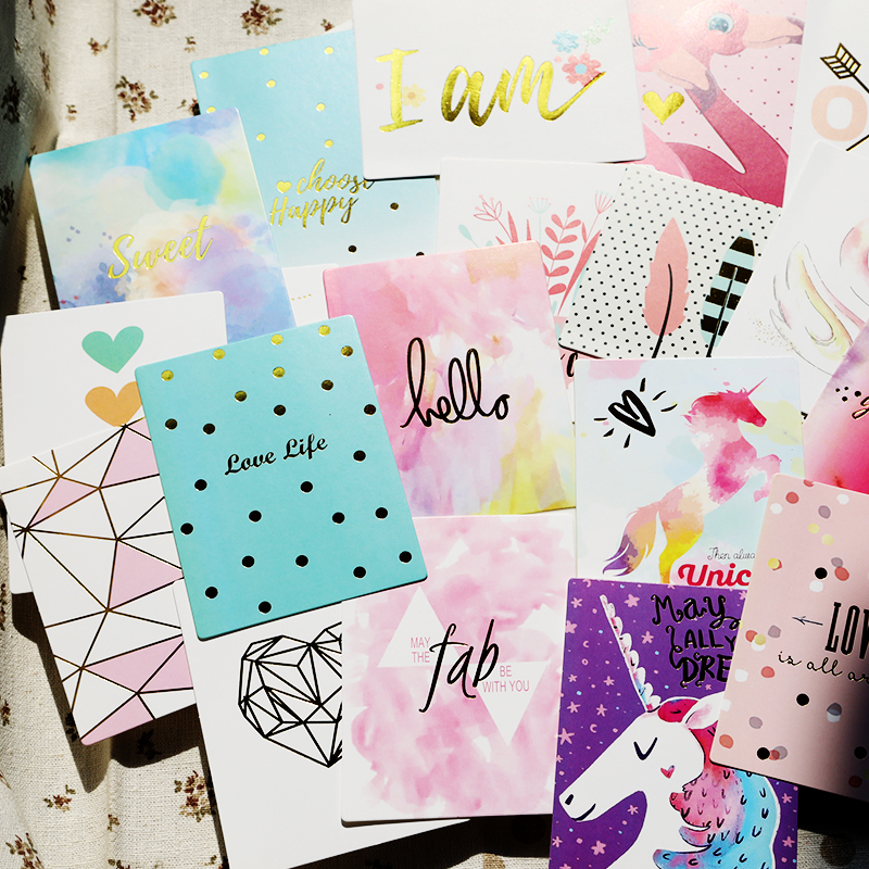 Sweet Life 20pcs 3x4 Journaling Foil Pocket Cards For Scrapbooking DIY Projects/Photo Album/Card Making Paper Crafts