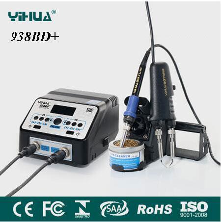 YIHUA 938D 938BD+ SMD Soldering Tweezer Repair Rework Station Electric Heating Pliers Constant Temperature Heating паяльная станция yihua 938bd