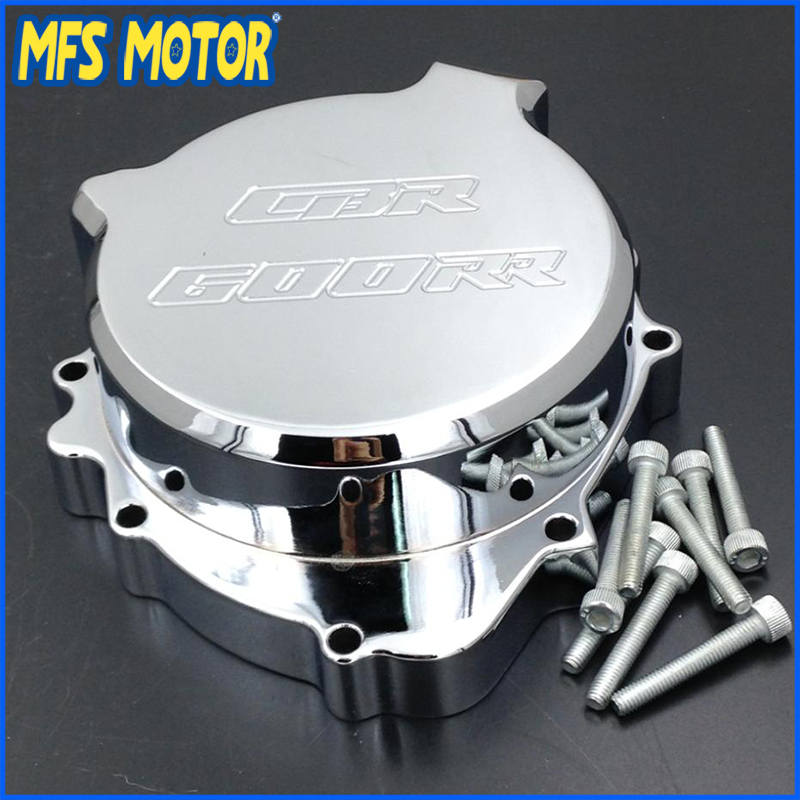 Freeshipping Motorcycle Left side Engine Stator cover For Honda CBR600RR 2003 2004 2005 2006 CHROME arashi motorcycle parts radiator grille protective cover grill guard protector for 2003 2004 2005 2006 honda cbr600rr cbr 600 rr