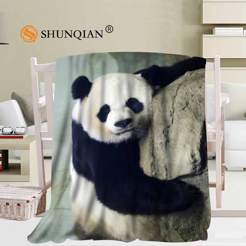 Hot Sale Custom Panda Blanket Manta Falafel Blanket Sofa
