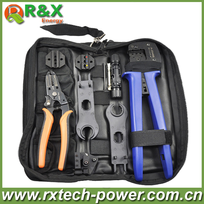 MC4 solar crimping tool kits for 2.5mm2/4mm2/6mm2 solar cable, with Crimping/Cutting/Stripping tools for MC4 solar connector. solar crimping tool kits with 2 5 6 0mm2 crimping tool mc3 mc4 crimping die solar tool set with mc4 mc3 crimper stripper cutter