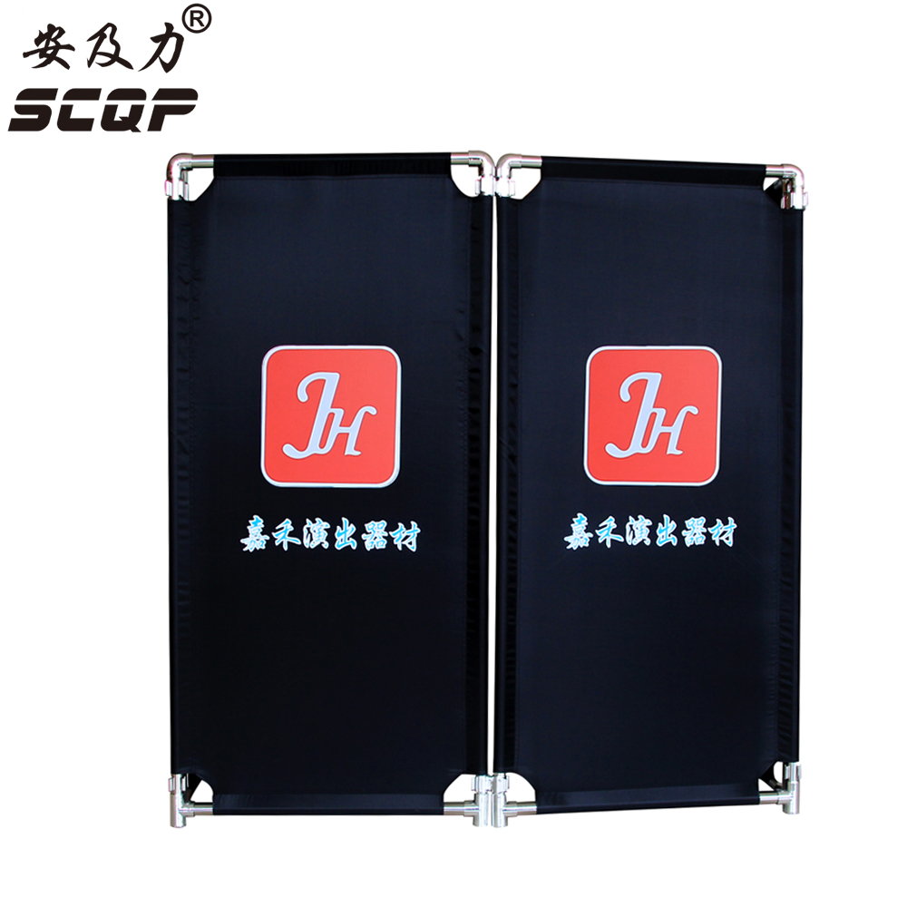 Customized Printed Black Cloth Folding Stainless Steel Promotion BarrierCustom Advertising Fence Sign Plate Best Marketing Tool