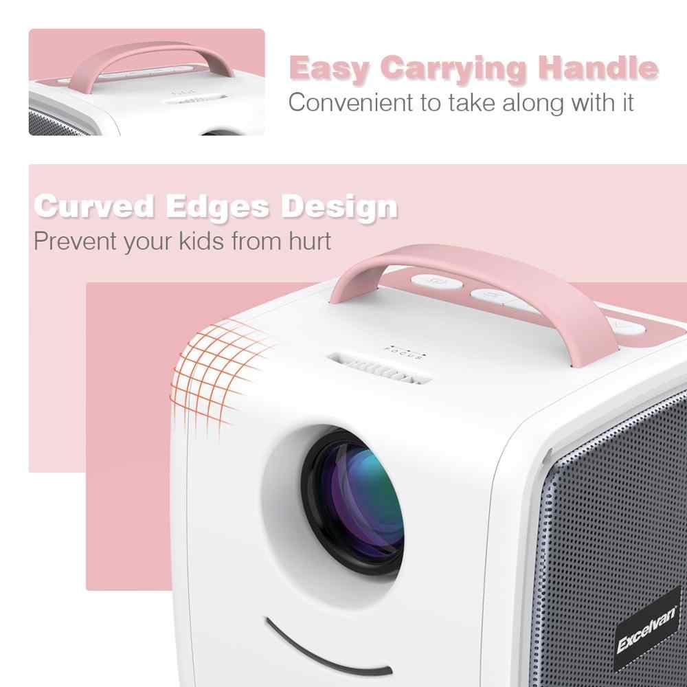Excelvan Q2 портативный мини проектор 700 люмен Детский Образовательный детский проектор карманный проектор светодиодный Телевизор домашний мультимедийный проектор