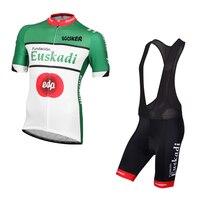 İspanya yaz Kısa kollu takım Euskaltel euskadi çabuk kuru Bisiklet jersey nefes kumaş MTB Ropa Ciclismo Bisiklet maillot jel