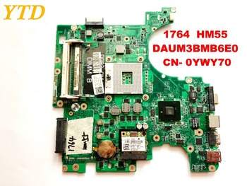 Original for DELL 1764  laptop motherboard 1764  HM55  DAUM3BMB6E0  CN- 0YWY70  tested good free shipping