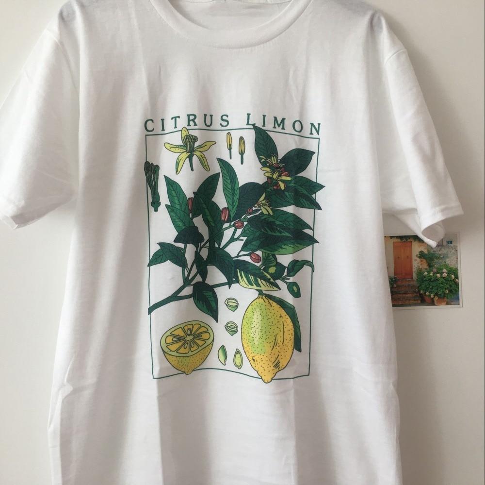 hahayule-JBH  Print T Shirt Fashion Short Sleeve limon lemon  The Stone Roses Mens Lemon 1989 Tour T-shirt White