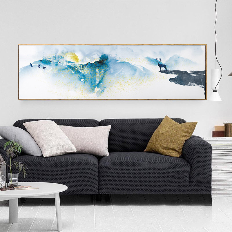 Nordic Elk 5D Diamond Painting Full Drill Living Room Wall Background Simple Modern Landscape Elk Home Decorat Hanging Painting