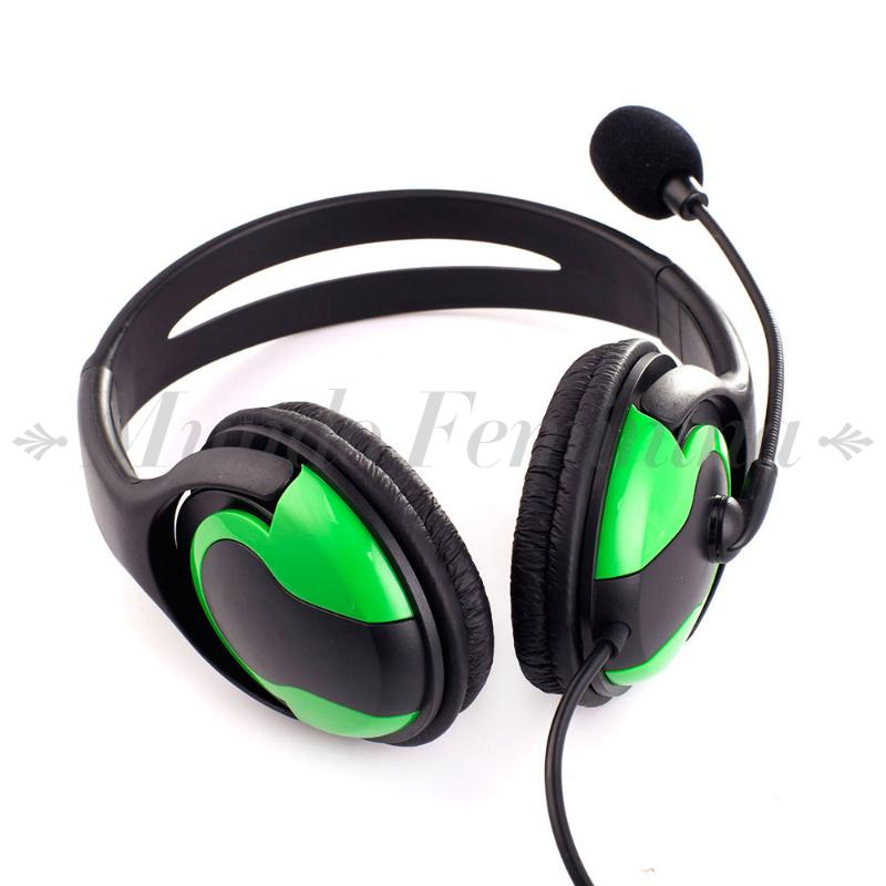 Wired Headset Headphone Earphone Microphone for PS3 Gaming PC Chat Black+Green high quality wired headphone for ps4 gaming headset headphone microphone mic chat for playstation 4 ps4 black