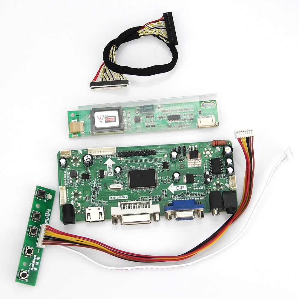 M.NT68676 LCD/LED Controller Driver Board  For LP133WX1-TLA1 LTN133AT07 1280*800 (HDMI+VGA+DVI+Audio)