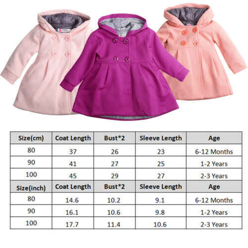2019 New Hot Sale Latest Baby Girl Hooded Trench Coat Winter Windbreaker Parka Jacket Kids Outerwear
